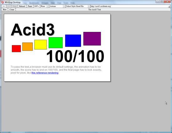 Acid3 in Opera
