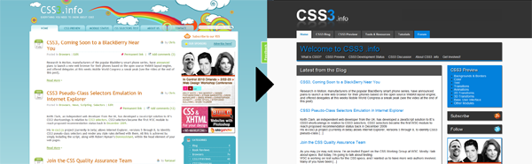 CSS3.info New Look! Redesign